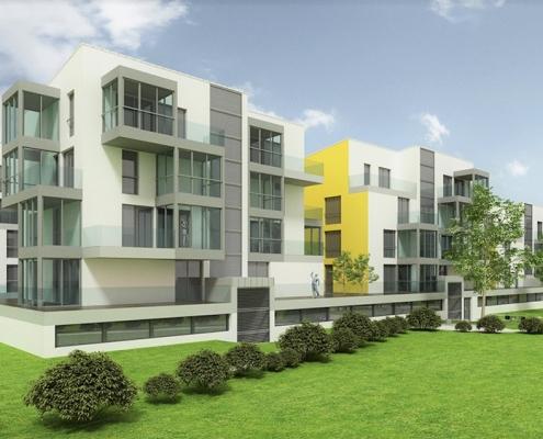 New modern residental buildings between Ljubljana and Celje