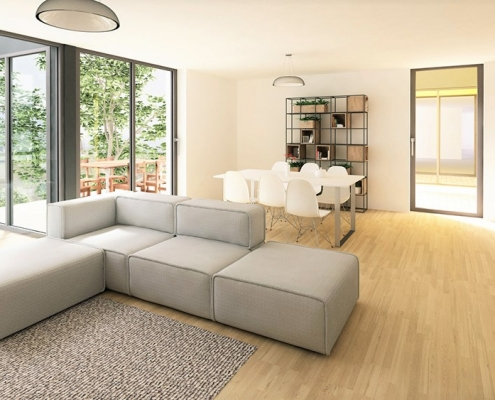 Новый жилой комплекс в живописном месте недалеко от Любляны