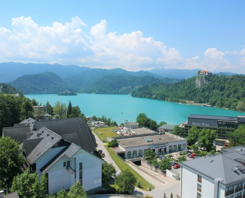 A plot of building land in the very center of Bled