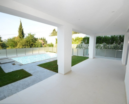 New villa with pool and sea view in Portoroz