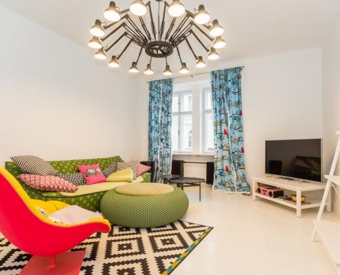 3-room apartment in the center of Ljubljana