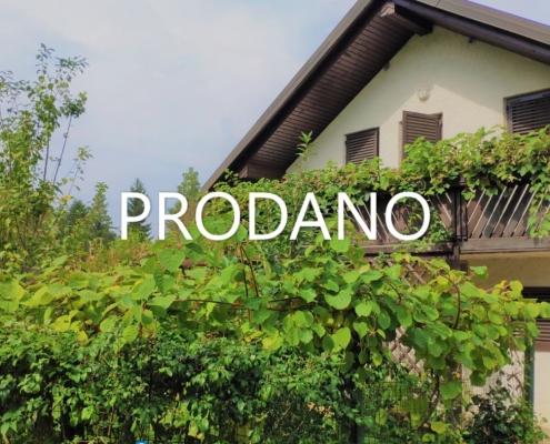 Prijetna hiša z bazenom in vinsko kletjo v bližini Ljubljane