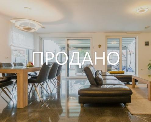 Стильный современный двухэтажный дом с бассейном в Любляне