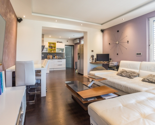 3-room apartment with a large terrace, garden and garage on a prestigious location in Ljubljana