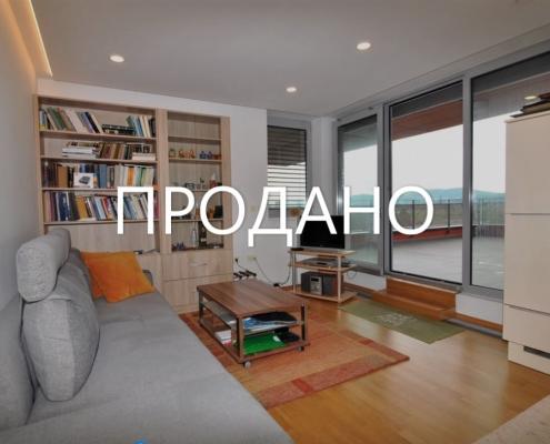 2х комнатная квартира с огромной террасой в Любляне